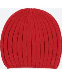 Uniqlo 100% Cashmere Knit Beanie in Black - Lyst 70a590968726