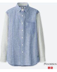 Uniqlo - Men Jwa Linen Cotton Long-sleeve Shirt - Lyst