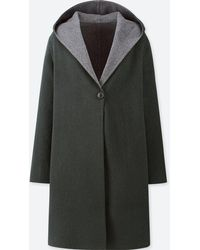 Uniqlo - Women Double Face Hooded Coat - Lyst