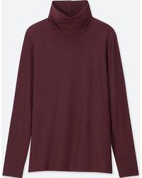 Uniqlo - Women Heattech Extra Warm Turtleneck T-shirt - Lyst