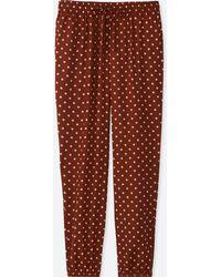 Uniqlo - Women Drape Dot-print Pants - Lyst