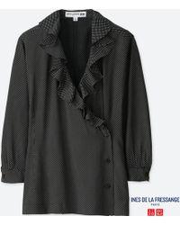 Uniqlo | Women Idlf Rayon Long-sleeve Blouse | Lyst
