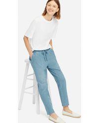 Uniqlo - Women Denim Jersey Tapered Pants - Lyst