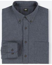 Uniqlo - Flannel Regular Fit Shirt (button-down Collar) - Lyst