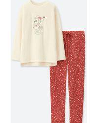 Uniqlo - Women Disney Collection Long-sleeve Fleece Set - Lyst