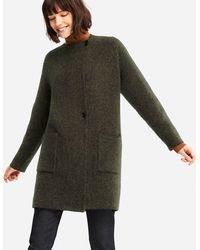 Uniqlo - Women Tweed Knitted Coat - Lyst