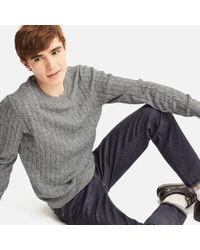Uniqlo - Men Cotton Cashmere Cable Long-sleeve Sweater - Lyst