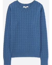 Uniqlo - Women Cotton Cashmere Cable Boat Neck Sweater - Lyst
