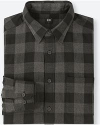 Uniqlo - Men Flannel Checked Long-sleeve Shirt - Lyst