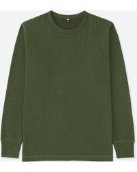 Uniqlo - Men Waffle Crew Neck Long-sleeve T-shirt - Lyst