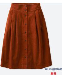 Uniqlo - Women Corduroy Tucked Skirt (ines De La Fressange) - Lyst