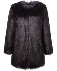 Unreal Fur - Midnight Coat - Lyst