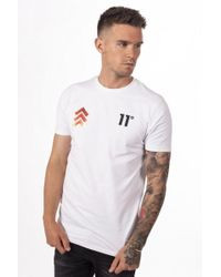 11 Degrees - Flame Triple Chevron T-shirt - Lyst
