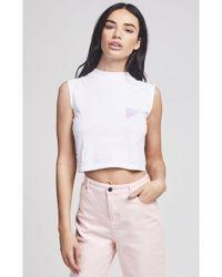 SIKSILK - Women's 80's Miami Crop Vest - Lyst