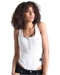 Sixth June - Women's Buttoned Ribbed Body Suit - Lyst