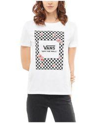 Vans - Boxed Rose Checks T-shirt - Lyst