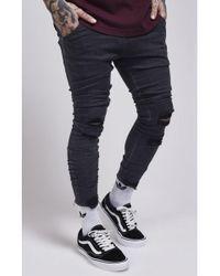 SIKSILK - Jagged Hem Jeans - Lyst