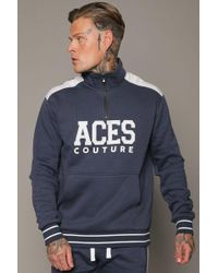 Aces Couture - Capital Half Zip Hoody - Lyst