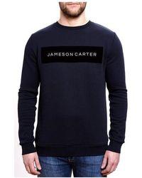 Jameson Carter - Velour Box Logo Jumper - Lyst