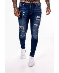 11 Degrees - Rip & Repair Skinny Jeans - Lyst