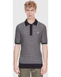 Fred Perry - Re-issues Texture Knit Shirt - Lyst
