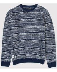 Native Youth - Intarsia Drop Stitch Wool Knit - Lyst