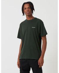 2f4c4c0802eb Black Stray T-shirt. $39. Standout · Carhartt - Script Embroibery T-shirt -  Lyst