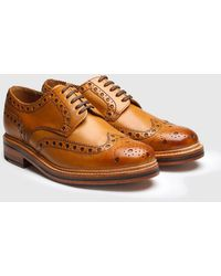 Grenson - Archie Big Punch Brogue Shoes - Lyst