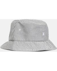 5eda0360805 Lyst - Moncler Gamme Bleu Grey Seersucker Bucket Hat in Gray for Men