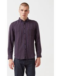Portuguese Flannel - Tica Striped Shirt - Lyst