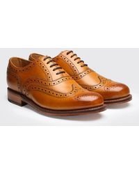 Grenson - Stanley Calf Brogue Shoes - Lyst