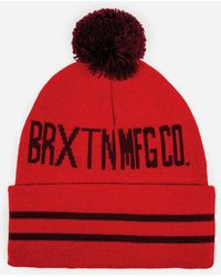 Brixton Quin Bobble Beanie Hat - Red