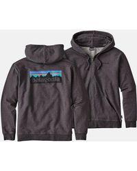 Patagonia - P6 Logo Zip-up Hooded Sweatshirt - Lyst