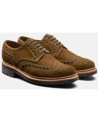 Grenson - Archie Brogue Suede Shoes - Lyst
