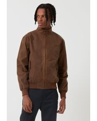 Fred Perry - Re-issues Waxed Harrington Jacket - Lyst