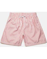 Boardies - Stripes Drawstring Swim Shorts (short Length) - Lyst