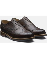 Grenson - Stanley Brogue Shoes (grain Leather) - Lyst