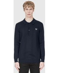 Fred Perry - Cable Knit Shirt - Lyst