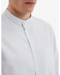 Norse Projects - Hans Collarless Oxford Stripe Shirt - Lyst