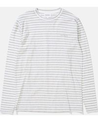 Norse Projects - James Logo Stripe Long Sleeve T-shirt - Lyst