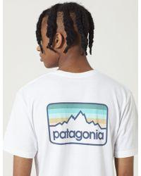 Patagonia - Line Logo Badge T-shirt - Lyst