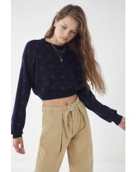 Urban Renewal - Remade Patterned Cropped Sweater - Lyst