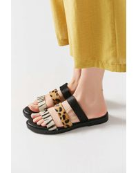 Urban Outfitters - Olivia Animal Print Slide - Lyst