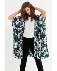 Urban Outfitters - Silky Printed Kimono - Lyst