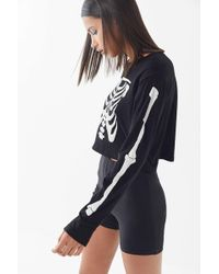 Truly Madly Deeply - Skeleton Cropped Top - Lyst