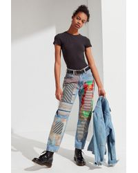 Urban Outfitters - Urban Renewal Remade Quilted Patched Levi's Jean - Lyst