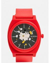 Nixon - Timeteller Mickey Mouse Pu Watch - Lyst