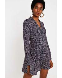 Urban Renewal Remnants Cow Print Velvet Dress - Womens Xs in Black ... 9b503da7b