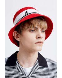 Kangol Bermuda Red Stripe Bucket Hat