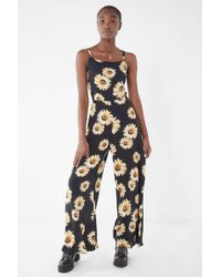 0c2e2bb8ed94 Urban Outfitters - Uo Sunflower Tie-back Jumpsuit - Lyst